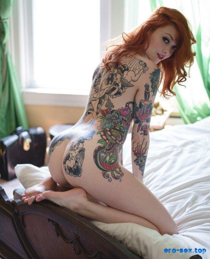 Hairy Tattooed Redhead Amateur Nico Spreading